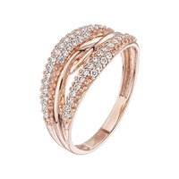 Gold ring with cubic zirconias